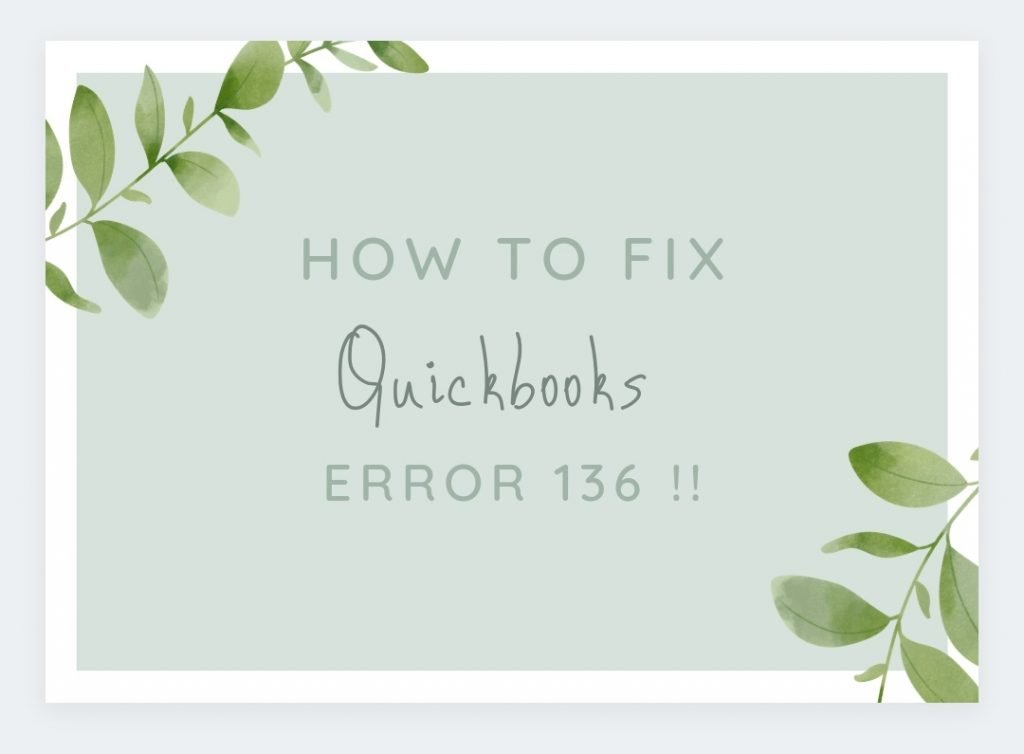 QuickBooks Error 136