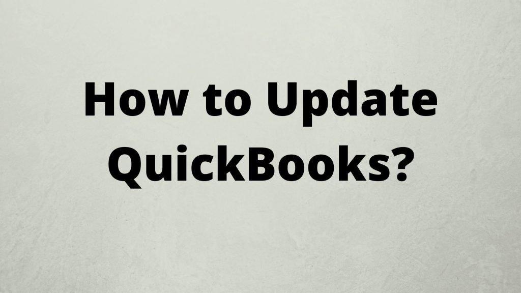 How to Update QuickBooks