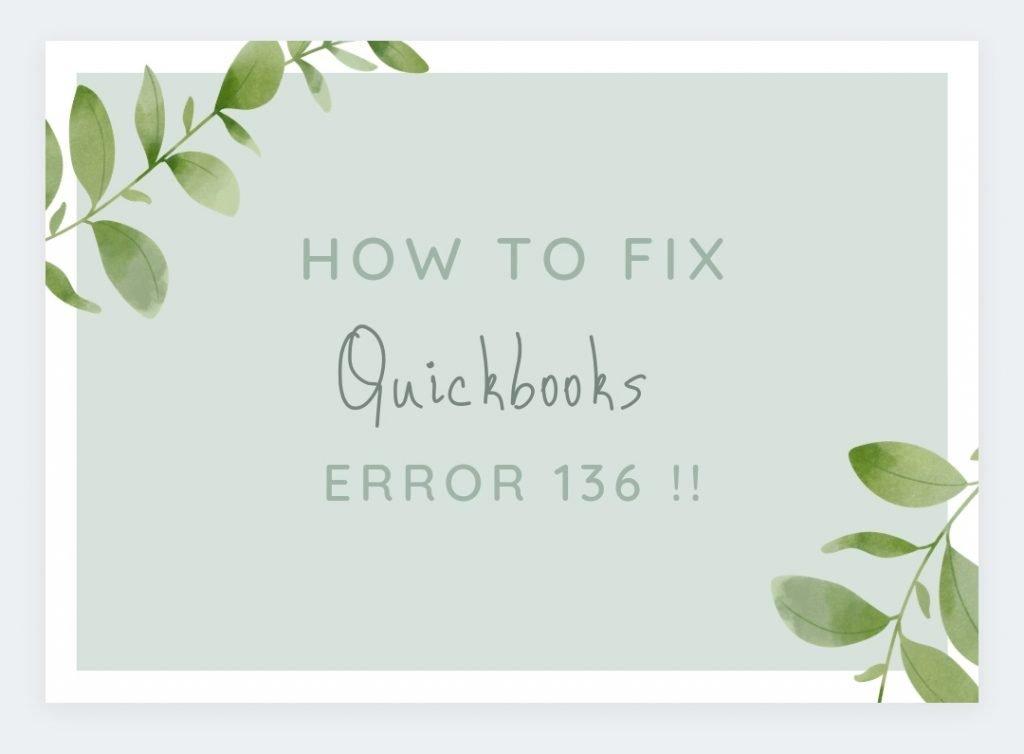 QuickBooks Error 136